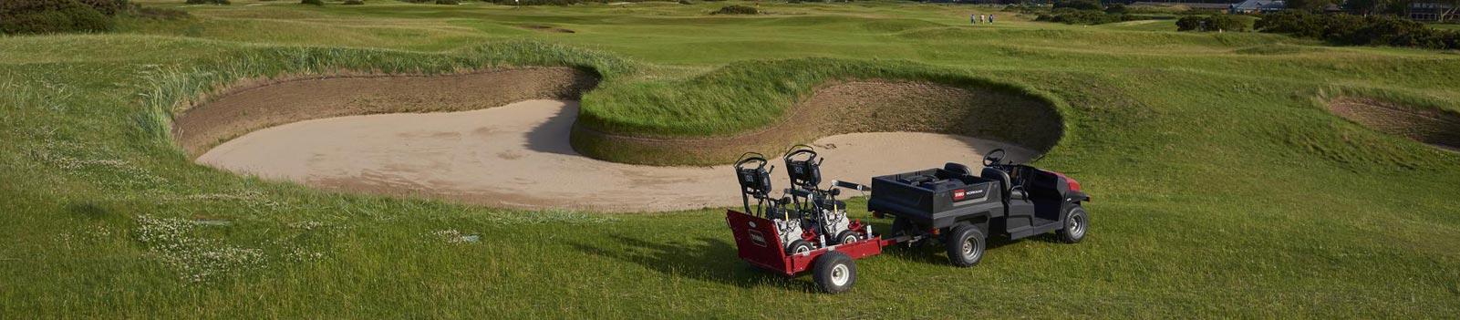 Golf- und Sportplatzpflegegeräte